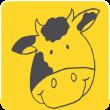 Logo mit Kuh