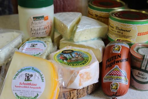 Milchprodukte und Wurstwaren